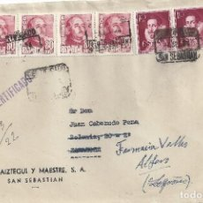 Sellos: FRONTAL SAN SEBASTIAN MATASELLOS CERTIFICADO BONITO FRANQUEO. Lote 83707600