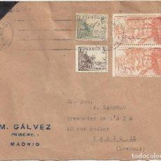 Sellos: CARTA MADRID 1953. Lote 83709608