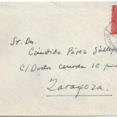 Sellos: CARTA MATASELLO AMBULANTE CIUDAD REAL A ZARAGOZA MATASELLOS EXTREMADURA HISTORIA POSTAL. Lote 83713680