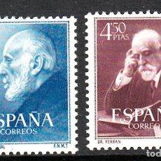 Sellos: 1952- DOCTORES RAMON Y CAJAL Y FERRÁN NUMS 1119 A 1120 NUEVOS SIN FIJASELLOS. Lote 274564318
