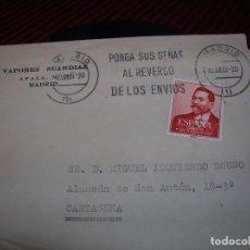 Sellos: CARTA CON SOBRE VAPORES SUARDIAZ.SELLO Y MATASELLOS. Lote 86372088