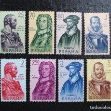 Sellos: ESPAÑA 1961 SERIE FORJADORES DE AMERICA EDIFIL 1374 AL 1381, NUEVOS SIN FIJASELLOS **. Lote 87546276