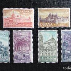 Sellos: ESPAÑA 1961 EDIFIL 1382 AL 1387 REAL MONASTERIO DE SAN LORENZO DE EL ESCORIAL **. Lote 87546420