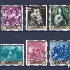Sellos: EDIFIL 1270-1279 BARTOLOMÉ ESTEBAN MURILLO 1960 (SERIE COMPLETA).. Lote 89727380