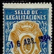Sellos: ESPAÑA [FISCAL] SELLO DE LEGALIZACIONES 25 PESETAS 1984 USADOS. Lote 89771224