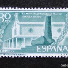 Sellos: ESPAÑA 1956, XX ANIVERSARIO DE LA EXALTACIÓN DEL GENERAL FRANCO, EDIFIL 1199(**). Lote 89780504