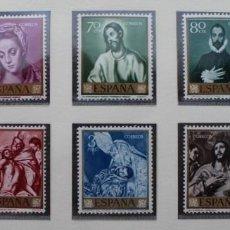 Sellos: ESPAÑA 1961, DOMENICO THEOTOCOPOULOS EL GRECO, EDIFIL 1330 Y 1339(**). Lote 89784820