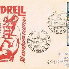 Sellos: 0343. CARTA CERTIFICADA EXPOSICION FILATELICA VENDRELL (TARRAGONA) 1965.. Lote 91291470