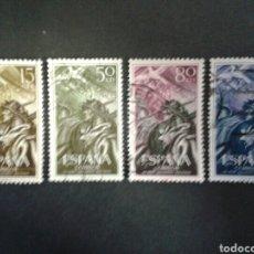 Sellos: ESPAÑA. EDIFIL 1187/90. SERIE COMPLETA USADA. 1956. ALZAMIENTO NACIONAL. SOLDADO. UNIFORMES.. Lote 91872384