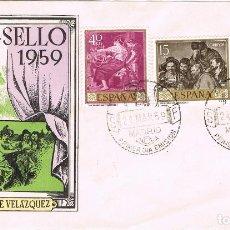 Sellos: 0353. CARTA F.D.C. MADRID 1959. PINTOR VELAZQUEZ, DIA DEL SELLO. Lote 93094690