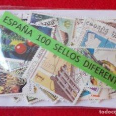 Sellos: LOTE DE 100 SELLOS ESPAÑOLES DIFERENTES - SEGUNDO CENTENARIO. Lote 94078630