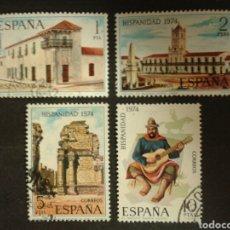 Timbres: ESPAÑA. EDIFIL 2213/16. SERIE COMPLETA USADA. 1974. HISPANIDAD. Lote 94201347
