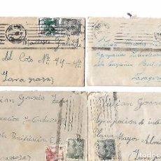 Sellos: ESPAÑA 10 SOBRES ENVIADOS DESDE ZARAGOZA A VALENCIA. Lote 94877135