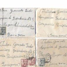 Sellos: ESPAÑA. LOTE DE 10 SOBRES ENVIADOS DESDE ZARAGOZA A VALENCIA. Lote 94877411