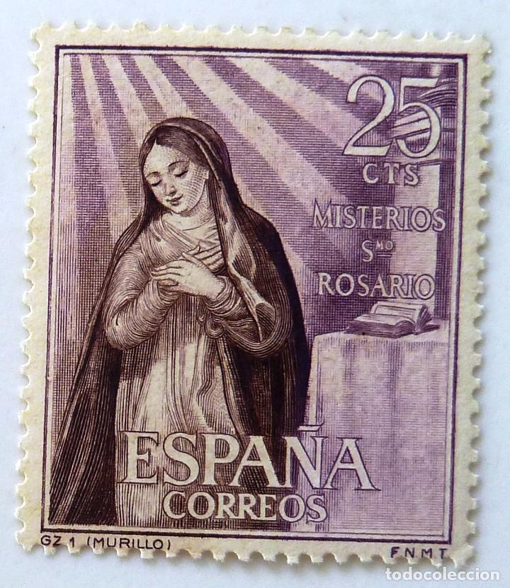 SELLOS ESPAÑA 1962. MISTERIOS SANTO ROSARIO. EDIFIL 1463. NUEVO (Sellos - España - II Centenario De 1.950 a 1.975 - Nuevos)