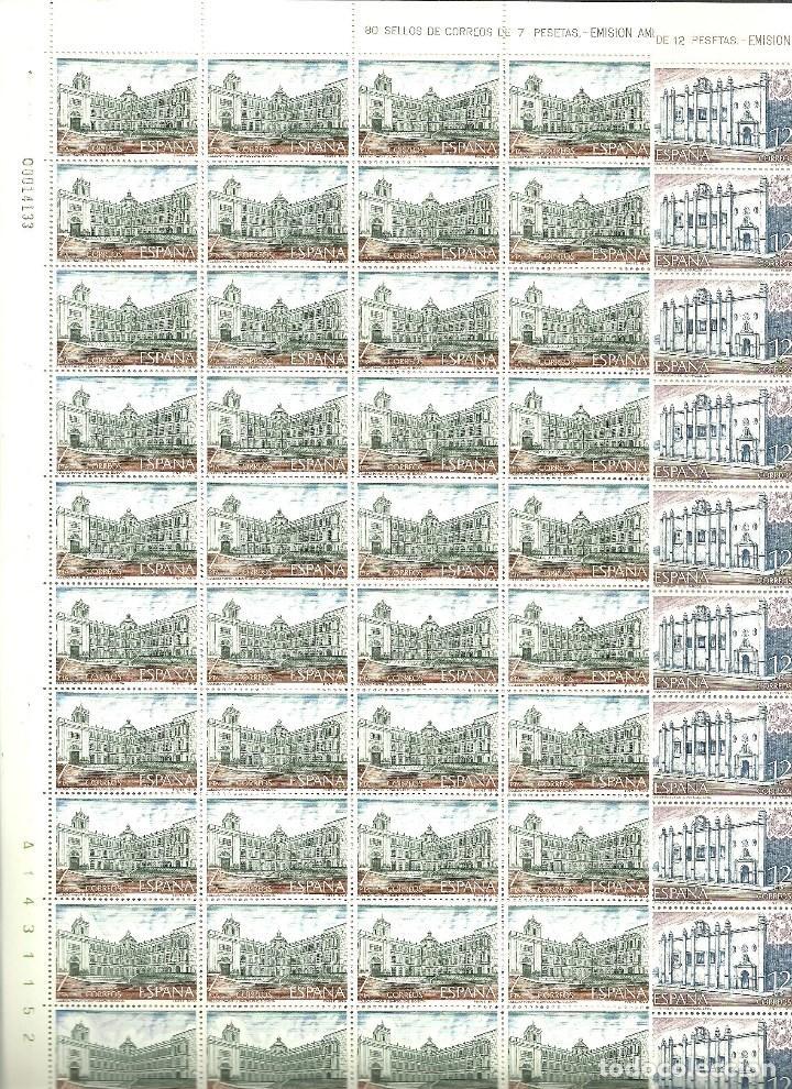 ESPAÑA-2544/45 AMERICA-ESPAÑA BOGOTÁ Y LIMA PLIEGOS DE 80 SELLOS NUEVOS (SEGÚN FOTO) (Sellos - España - II Centenario De 1.950 a 1.975 - Nuevos)