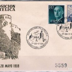 Sellos: 1959.- LLAGOSTERA (GERONA) A BARCELONA. Lote 97783231