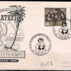 Sellos: 1959.- SANTA CRUZ DE TENERIFE A VALENCIA. Lote 97788270