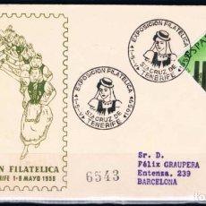 Sellos: 1959.- SANTA CRUZ DE TENERIFE A BARCELONA. Lote 97790371