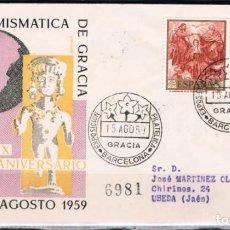Sellos: 1959.- BARCELONA A ÚBEDA (JAÉN). Lote 97860251