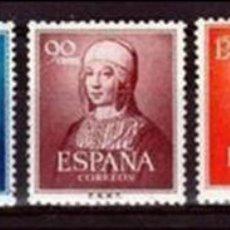 Sellos: 1951. V CENTENARIO DEL NACIMIENTO DE ISABEL LA CATOLICA. SERIE . . **. MNH( SEÑAL DE FIJASELLOS). Lote 97911839