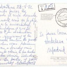 Sellos: POSTAL DE SAN SEBASTIÁN. GUIPÚZCOA. PAÍS VASCO. 1972 CIRCULADA SIN SELLO Y TASADA 3 PESETAS. Lote 98075735
