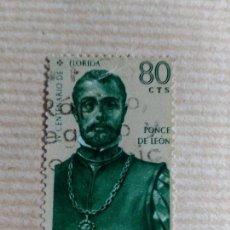 Sellos: EDIFIL 1300. 12 DE OCTUBRE. FORJADORES DE AMERICA. PONCE DE LEON.. Lote 209589820