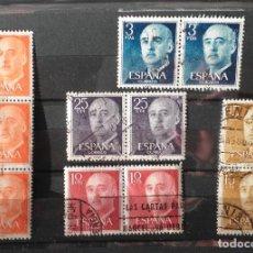 Sellos: 11 SELLOS 1955 GENERAL FRANCO FRANQUEADOS. Lote 98230531