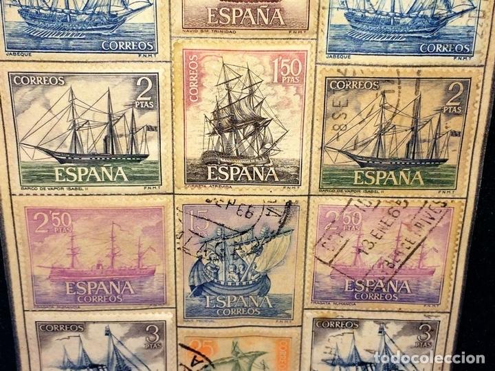 Sellos: HOMENAJE A LA MARINA ESPAÑOLA. SELLOS. 14 VALORES. ENMARCADOS.ESPAÑA. JULIO 1964 - Foto 5 - 98480711