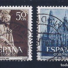 Sellos: EDIFIL 1130-1131 AÑO SANTO COMPOSTELANO 1954 (SERIE COMPLETA). EXCELENTE CENTRADO.. Lote 98531071