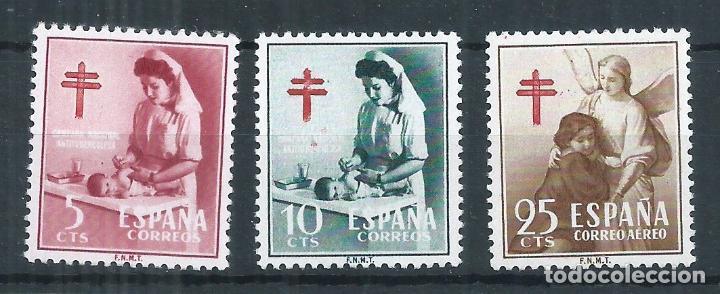 R17.G20/ ESPAÑA NUEVOS ** 1953, EDF. 1121/23, CAT. 16.00€, PRO TUBERCULOSOS (Sellos - España - II Centenario De 1.950 a 1.975 - Nuevos)