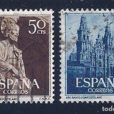 Sellos: EDIFIL 1130-1131 AÑO SANTO COMPOSTELANO 1954 (SERIE COMPLETA). Lote 98557863