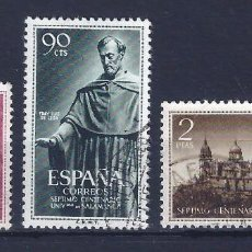 Sellos: EDIFIL 1126-1128 UNIVERSIDAD DE SALAMANCA 1953 (SERIE COMPLETA). EXCELENTE CENTRADO.. Lote 98560347