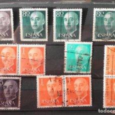 Sellos: 12 SELLOS 1955 GENERAL FRANCO FRANQUEADOS. Lote 98624647