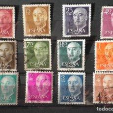 Sellos: 12 SELLOS 1955 GENERAL FRANCO FRANQUEADOS. Lote 98624739