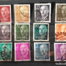 Sellos: 12 SELLOS 1955 GENERAL FRANCO FRANQUEADOS. Lote 98624799