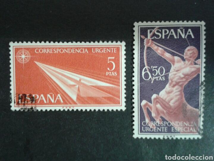 ESPAÑA. EDIFIL 1765/6. SERIE COMPLETA USADA. CORREO URGENTE. 1966. (Sellos - España - II Centenario De 1.950 a 1.975 - Usados)