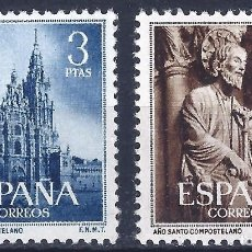 Sellos: EDIFIL 1130-1131 AÑO SANTO COMPOSTELANO1954. MH *. VALOR CATÁLOGO: 47 €.. Lote 99907727
