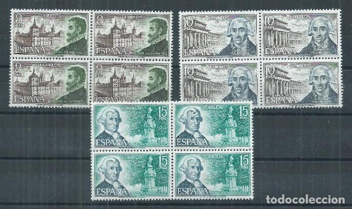 R16.V_23/ ESPAÑA EDIFIL 2117/19, MNH **, 1973, CATALOGO 11,16€, EN BLOQUES DE 4 (Sellos - España - II Centenario De 1.950 a 1.975 - Nuevos)