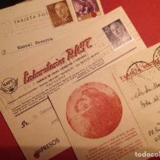Sellos: CORREO FRANCO - TRES POSTALES COMERCIALES IMPRESAS BILBAO ALICANTE - TAL FOTOS. Lote 101326447