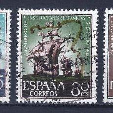 Sellos: EDIFIL 1513-1515 CONGRESO DE INSTITUCIONES HISPÁNICAS 1963 (SERIE COMPLETA).. Lote 101934547
