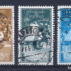 Sellos: EDIIFL 1180-1182 CENTENARIO DEL TELÉGRAFO 1955 (SERIE COMPLETA).. Lote 101936747