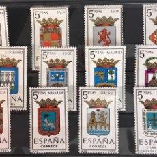 Sellos: AÑO 1964. ESCUDOS. DE IFNI A OVIEDO. Nº 1551/62. Lote 103841106