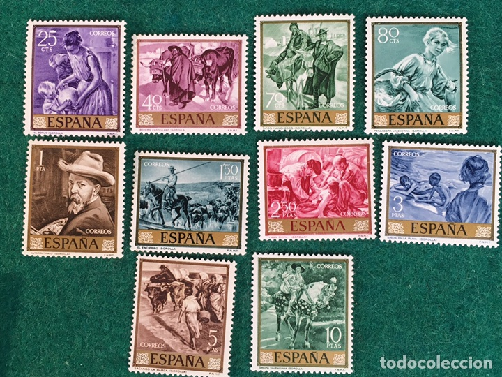 AÑO 1964. JOAQUÍN SOROLLA. 1566/75 (Sellos - España - II Centenario De 1.950 a 1.975 - Nuevos)