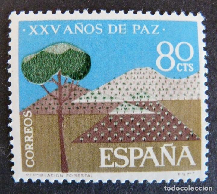 ESPAÑA 1964 - XXV AÑOS DE PAZ - 80 CTS - EDIFIL 1581 - NUEVO SIN CHARNELA (Sellos - España - II Centenario De 1.950 a 1.975 - Nuevos)