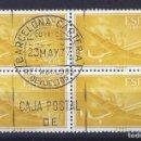 Sellos: EDIFIL 1176 SUPERCONSTELLATION Y NAO SANTA MARIA 1955-1956 (BLOQUE DE 4). EXCELENTE MATASELLOS.. Lote 104031791