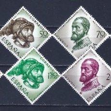 Sellos: EDIFIL 1224-1231 IV CENTENARIO DE LA MUERTE DE CARLOS I DE ESPAÑA Y V DE ALEMANIA (COMPLETA). MNH **. Lote 183690570