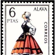 Sellos: ESPAÑA 1967 - TRAJES TIPICOS REGIONALES - ALAVA - EDIFIL Nº 1767**. Lote 104277611