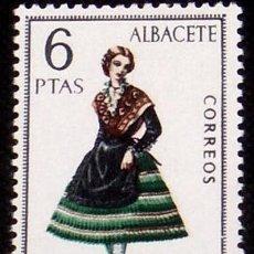 Sellos: ESPAÑA 1967 - TRAJES TIPICOS REGIONALES - ALBACETE - EDIFIL Nº 1768**. Lote 104277867