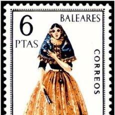 Sellos: ESPAÑA 1967 - TRAJES TIPICOS REGIONALES - BALEARES - EDIFIL Nº 1773** . Lote 104278435